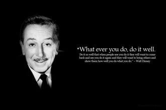 Walt Disney Cutomer Quote