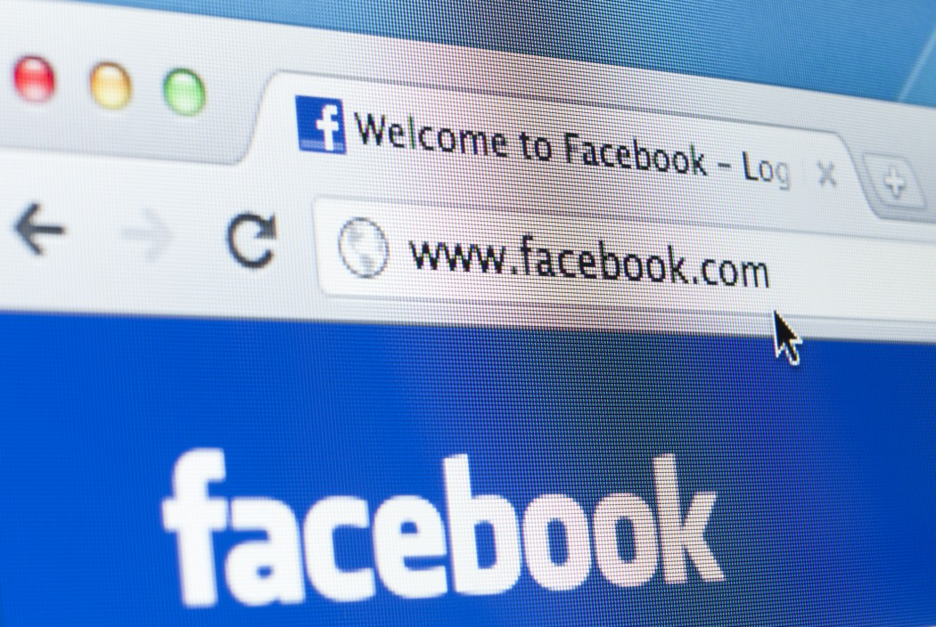 Facebook Homepage Closeup on LCD Screen, Chrome Web Browser